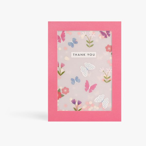 Thank You Shakies Butterfly Card