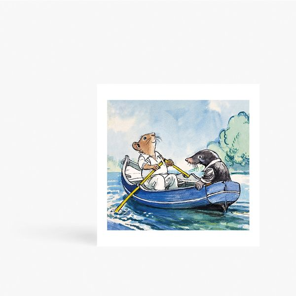 Wind in Willows Rat & Mole Card