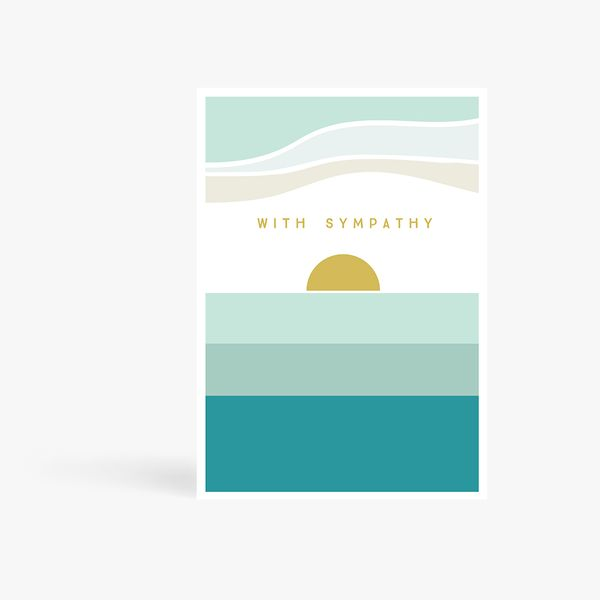 With Sympathy Sunset Card