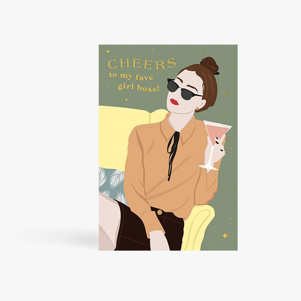 Cheers Fave Girl Boss Card