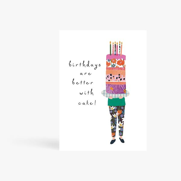 Better With Cake Birthday Card
