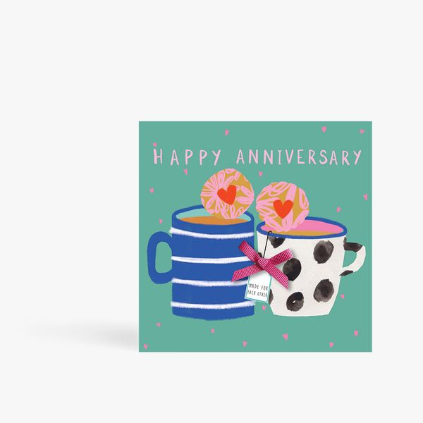 Tea And Biscuits Anniversary Card