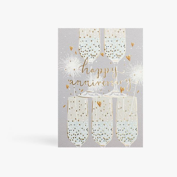 Anniversary Champagne Flutes Card