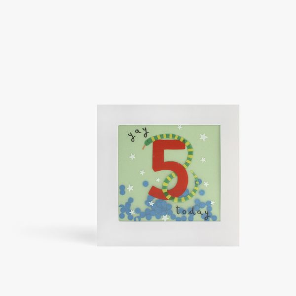 5 Today Snake Shakies Card