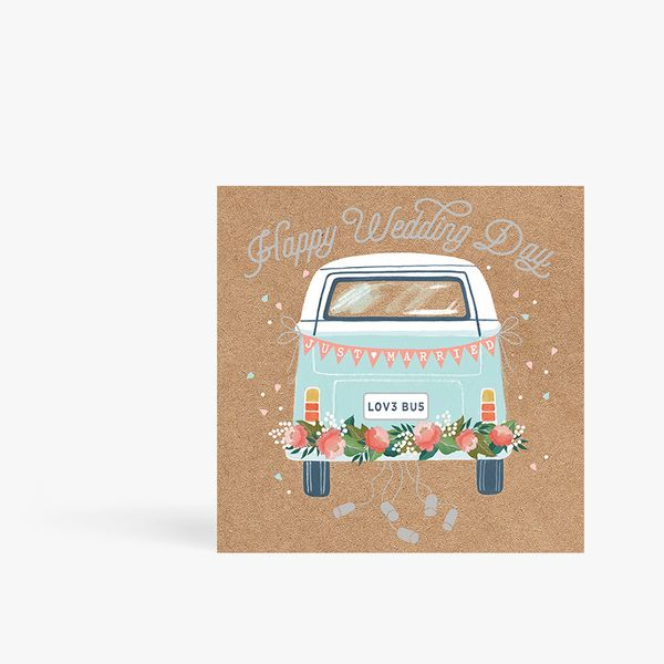 Just Married Camper Card