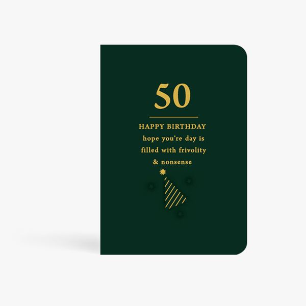 Filled With Frivolity 50th Birthday Card