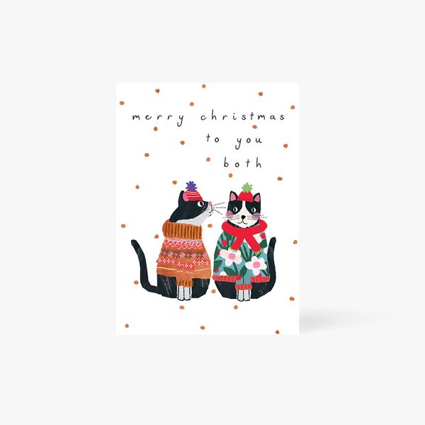 Merry Christmas Both Of You Cats Card