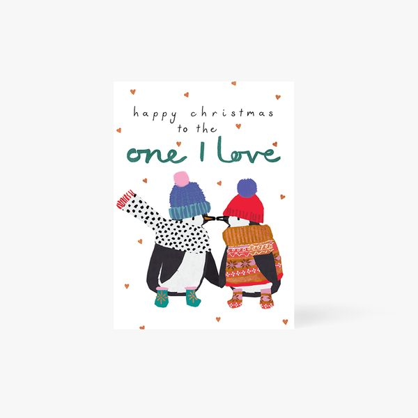 To The One I Love Penguin Card