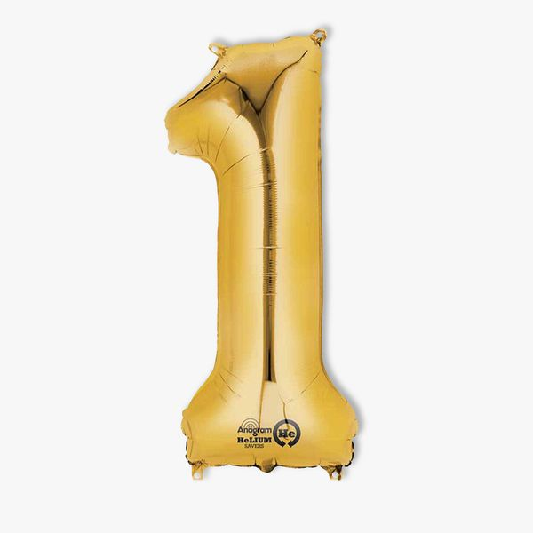 Number 1 Gold Balloon