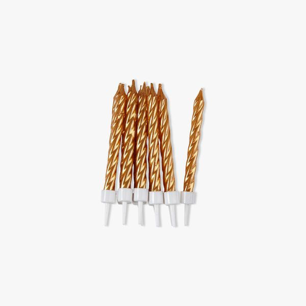 Gold Candles - Pack of 10