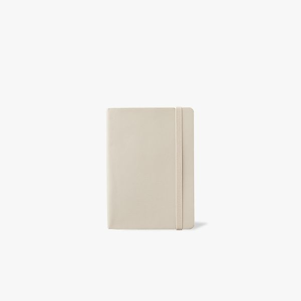 Agenzio Small Dotted Notebook - Oatmeal