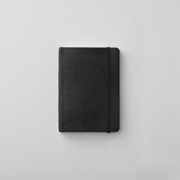 Agenzio soft small black plain notebook