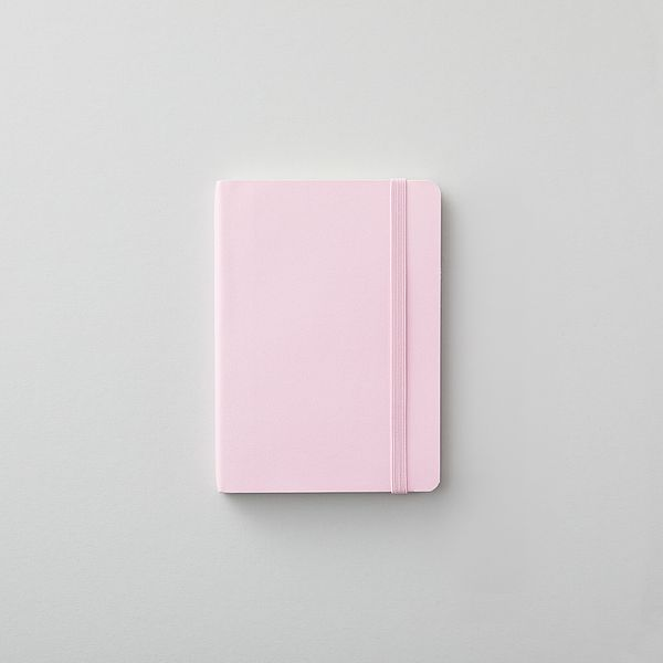 Agenzio soft blush ruled small notebook