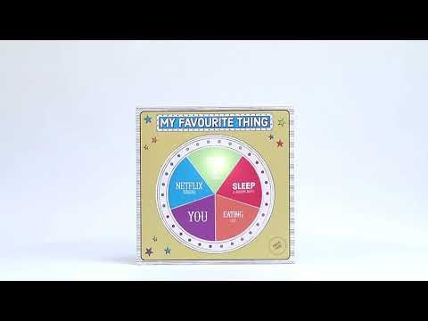 My favourite thing light up wheel card