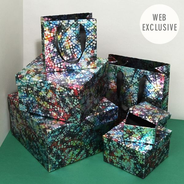 Sequin Stars Christmas gift bags & boxes multi buy