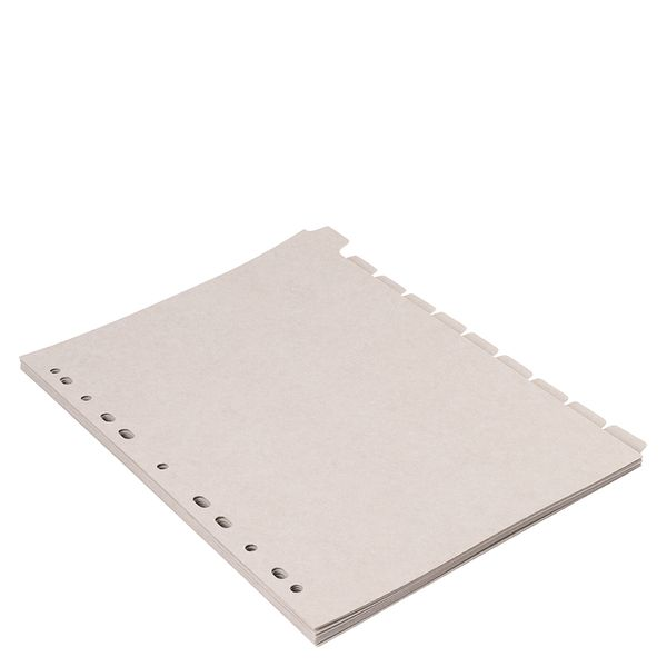 Grey A4 divider inserts - pack of 10