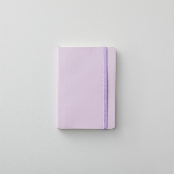 Agenzio soft lavender dot small notebook