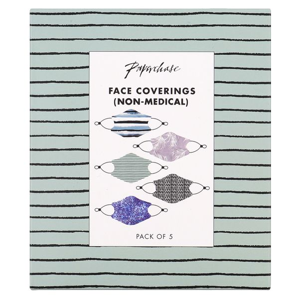 Neutral face coverings - pack of 5