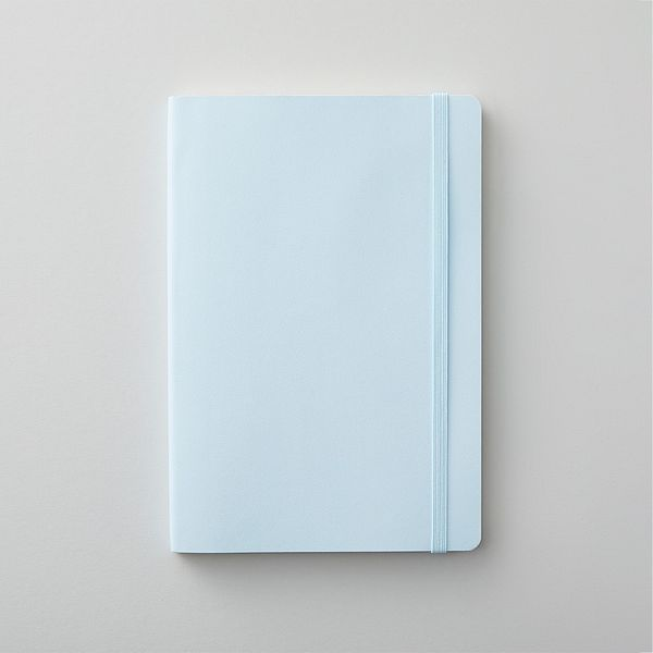 Agenzio soft pavillion blue ruled medium notebook