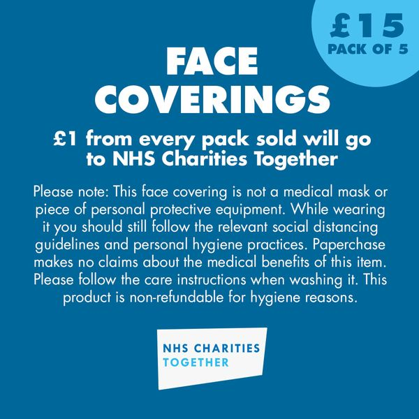 Black Face Coverings - Pack of 5