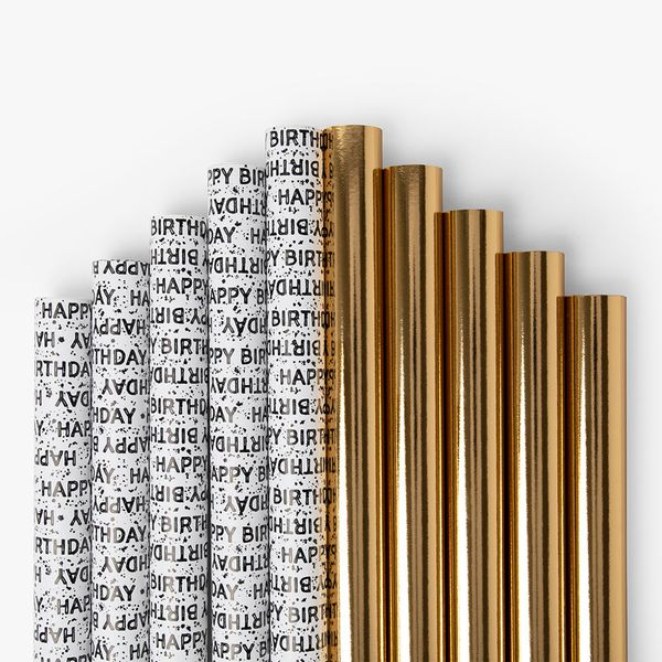 Gold And Monochrome Wrap Bundle - Pack of 10