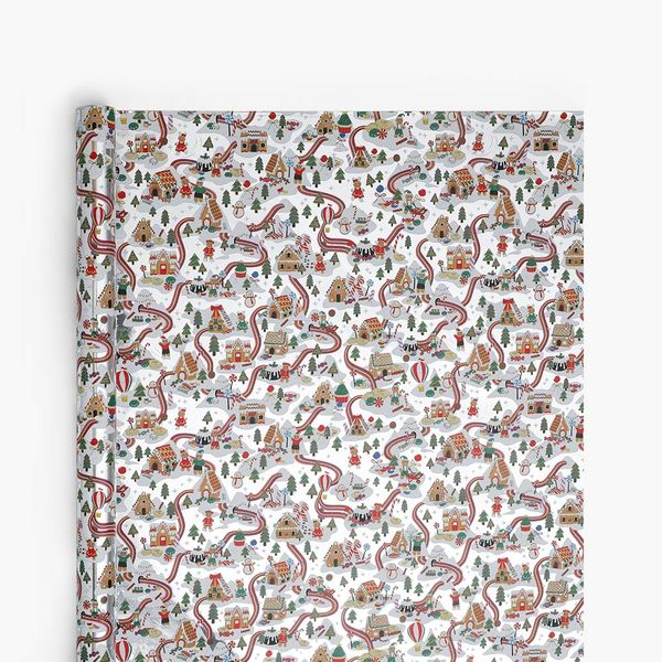 Candy Land Silver Wrapping Paper - 3m