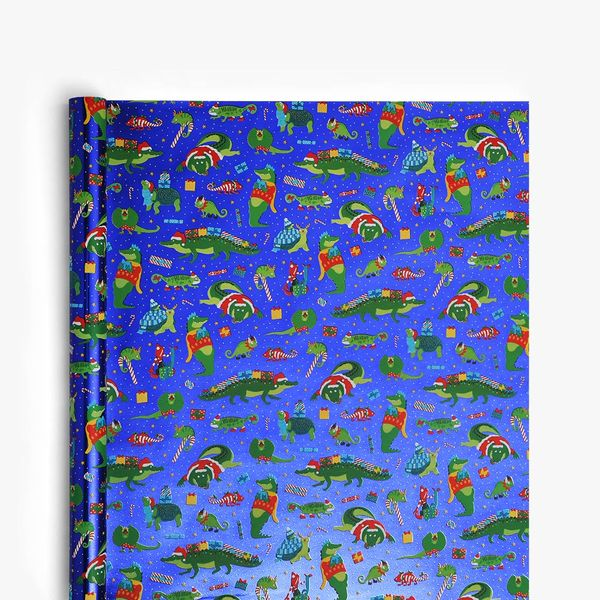 Christmas Reptiles Wrapping Paper - 5m