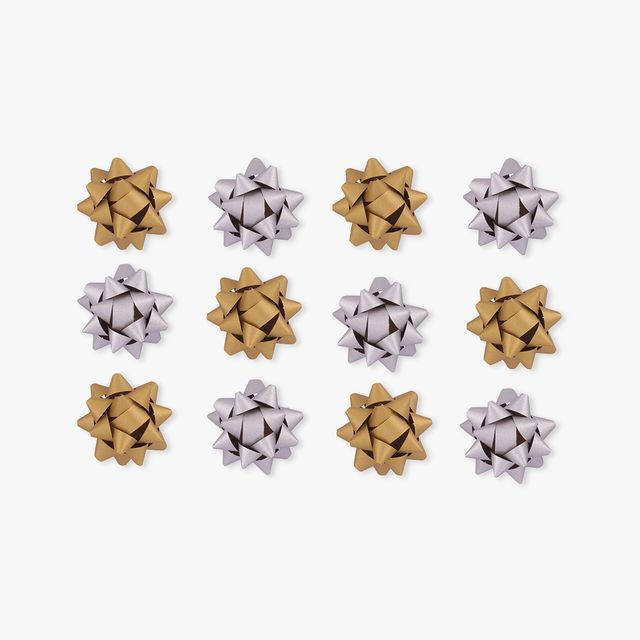 Gold and silver Kraft paper gift bows - pack of 55 main image